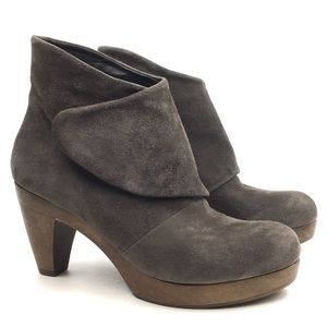 Coclico clog ankle boot suede leather bootie